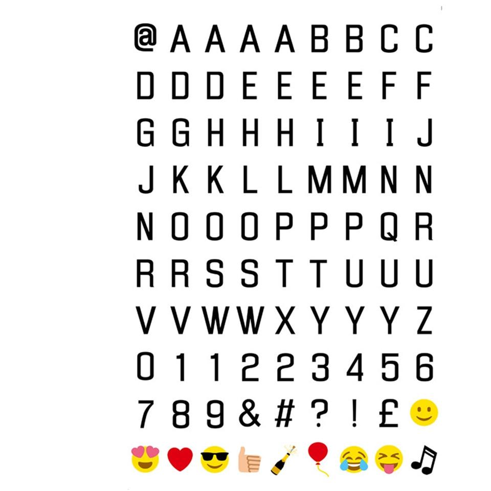 Dropship Combination Cinematic Light Box Card Black Letters Symbols
