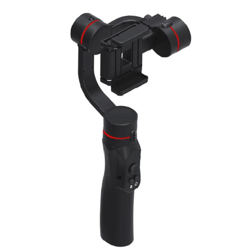 ALLOYSEED 3-Axis Handheld Smartphone Gimbal Stabilizer Telescopic Self Timer Stick with 183mm Pole Tripod for IOS Android