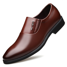 Brand Men's Business Leather Shoes British Style Pointed Men Dress Shoes Loafers Vintage Oxford Shoes For Men Plus Size  DA0152 цены онлайн