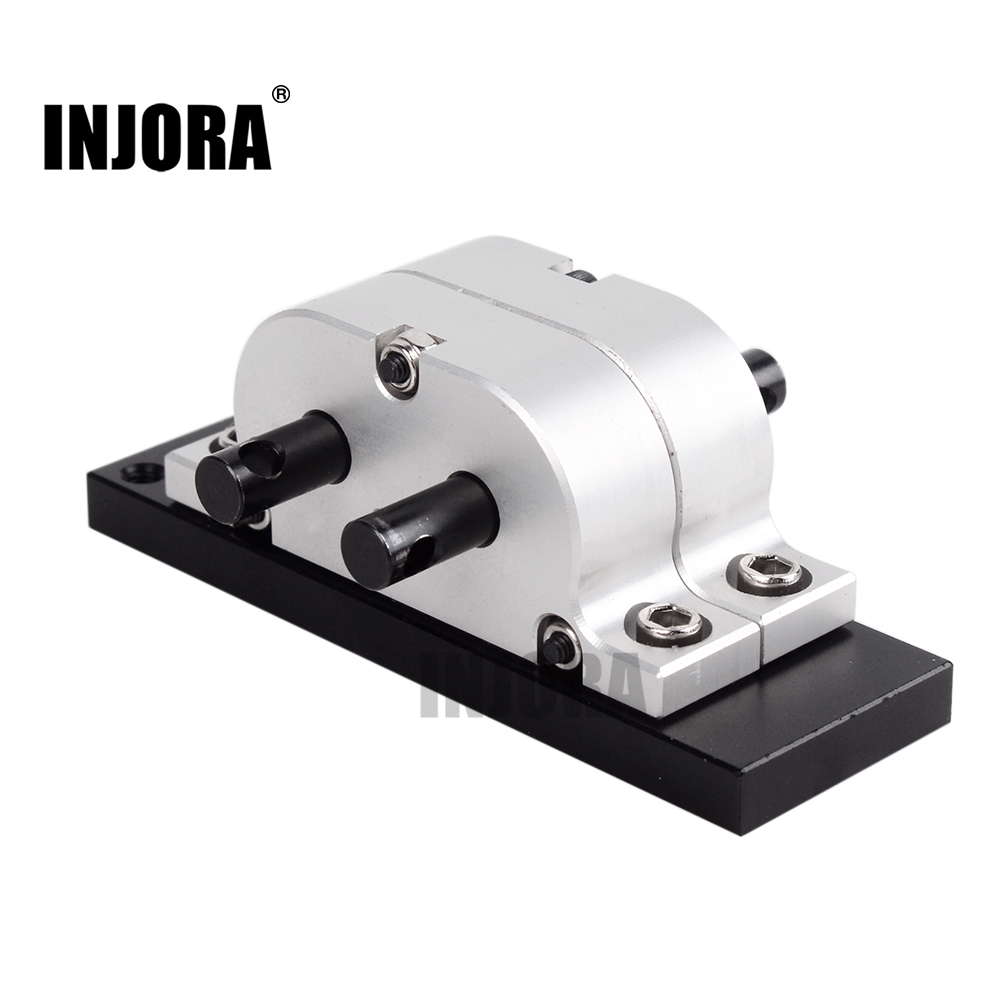 INJORA 1:1 Gear Ratio Metal Gearbox Transfer Case Mount For 1:14 Tamiya Truck & 1:10 RC Crawler Axial SCX10 D90