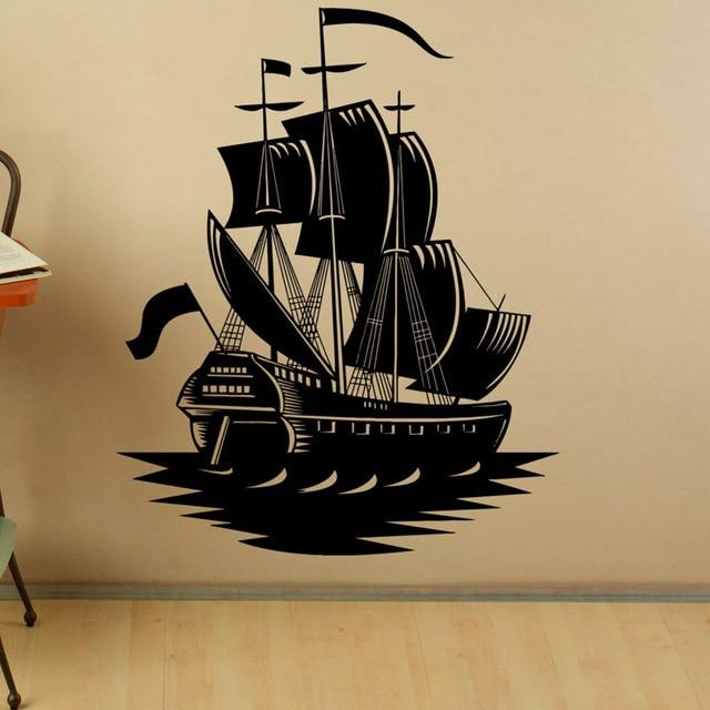 Pirate Ship Wall Sticker Home Decals Decor Marine Ship Vinyl Art ...