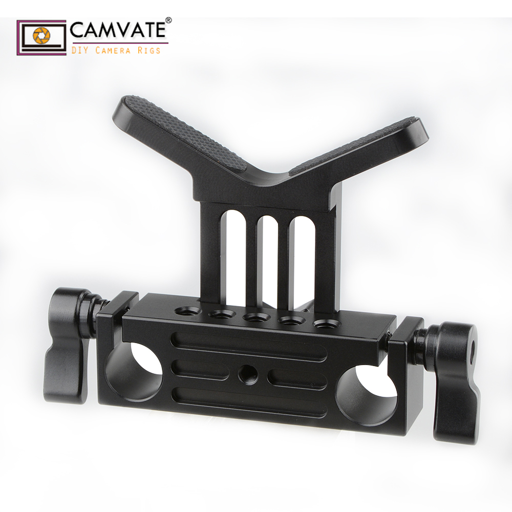 CAMVATE Lens Support 15mm Rod Clamp Rail Block For DSLR Rig Rod Support Rail System C1108 Camera Photography Accessories