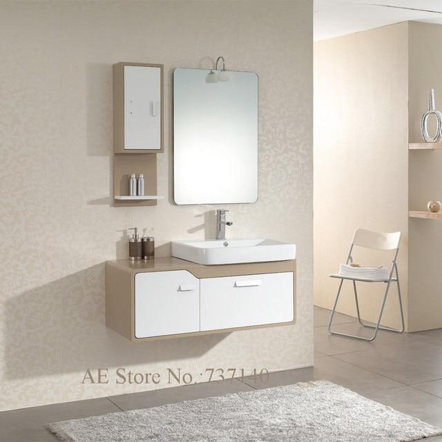 Mobiletto del bagno con lavabo in ceramica mobili bianchi bagno a ...
