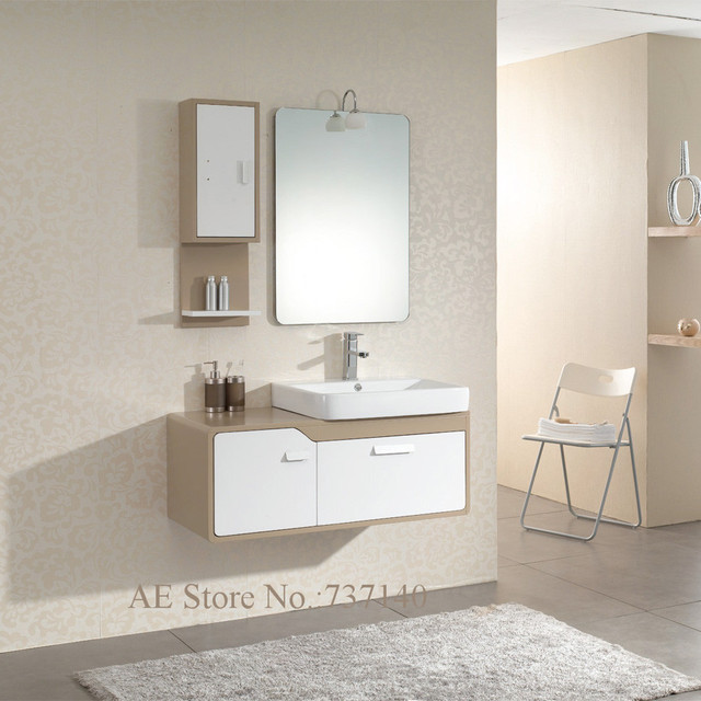 Bathroom Cabinet With Ceramic Basin White Furniture Wall Mounted