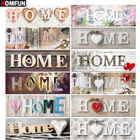 "HOMFUN Full Square/Round Drill 5D DIY Diamond Painting ""Home Sweet Home"" 3D Embroidery Cross Stitch 5D Home Decor Gift BK01"