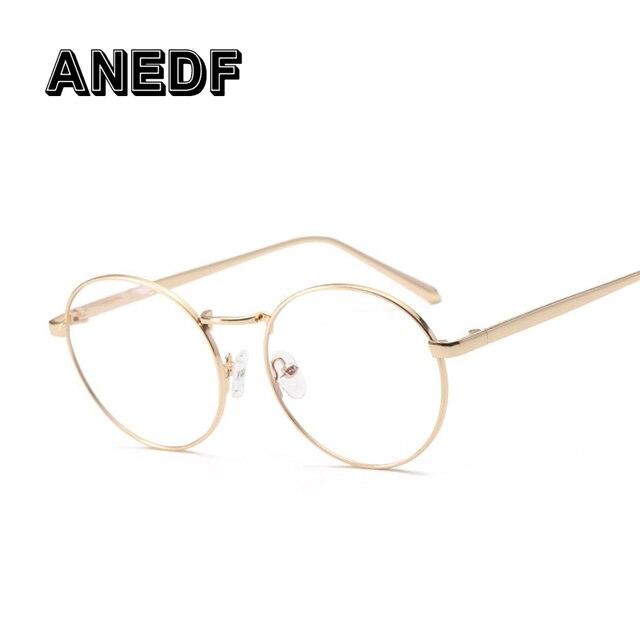 Anedf Vintage Eyewear FRAME Wanita Vintage Kacamata Bulat Frame Komputer Pria  Frame Kacamata Oculos Round Eyewear a5f2c939aa