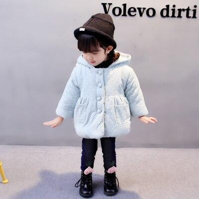 Winter Koreaanse Meisjes Katoen Kinderen Warm Plus Fluwelen Jas Crazy Prijs