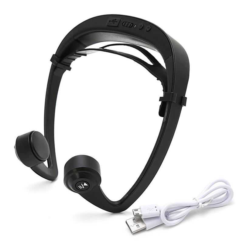 V9 Ear Hook Bone Conduction Bluetooth 4.2 Sports Headphone Headset With Mic bluetooth 4 1 bone conduction sports waterproof headset wireless ear hook headphone w mic white