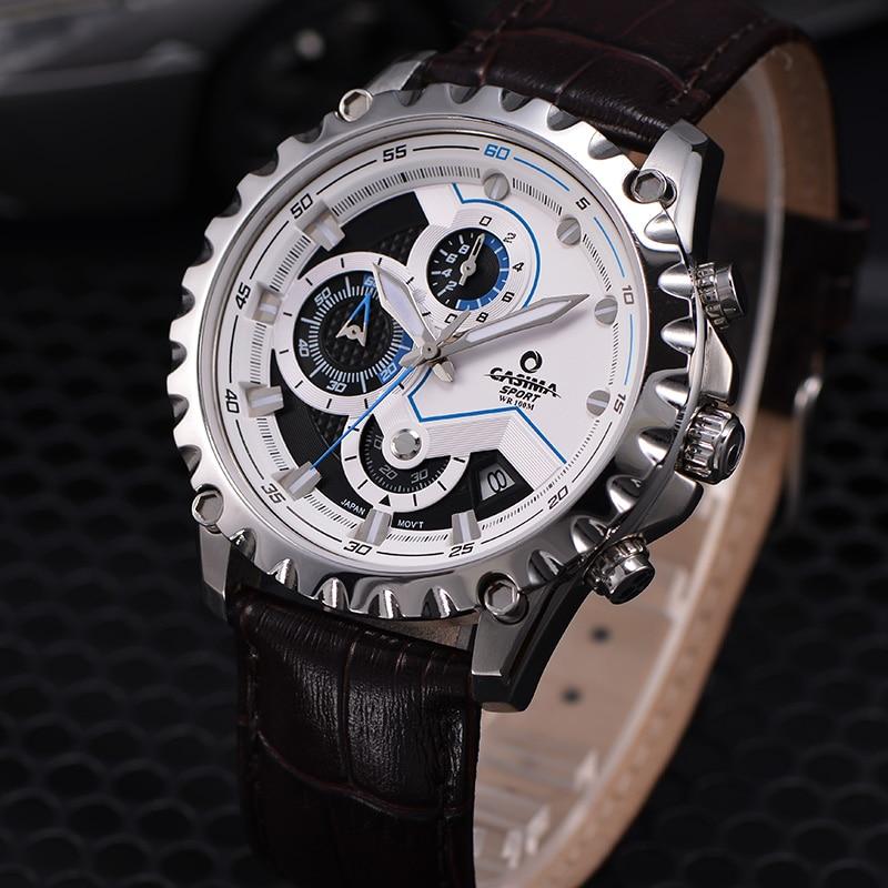 Новый Элитный бренд часы Для мужчин модные роскошные Многофункциональный очаровательные спорта Для мужчин кварцевые часы waterproof100MCASIMA #8203 - 3