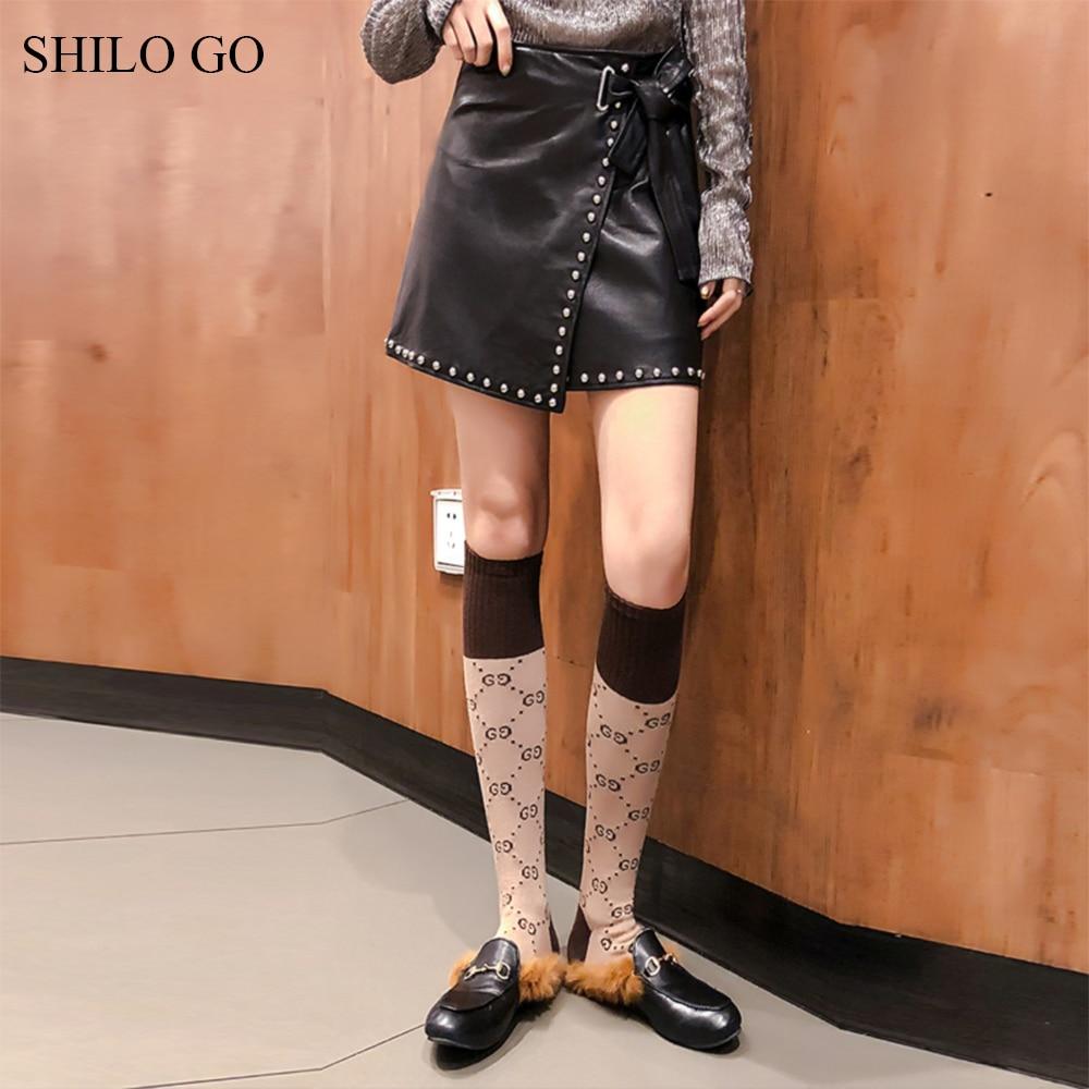 Taille Pour Jupes D'été Nœud Aller Une Mode En Ligne Mouton Peau Femme Métal De Cuir Rivet Ceinture Shilo Haute Véritable w7fRqxSIf