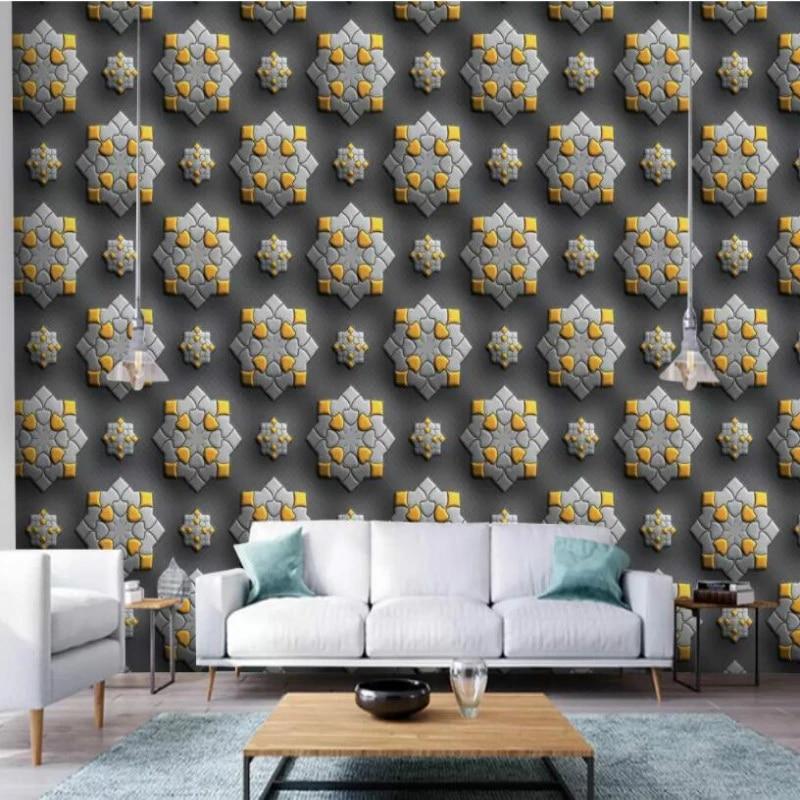 Custom Made Home Improvement 3d Wallpaper For Walls 3d Ageometric Pattern Wall Murals Wallpaper For Living Room Wallpapers Aliexpress