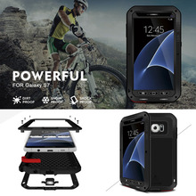 For samsung s7 Love Mei Powerful Life Waterproof Shockproof Metal Aluminum phone Cases For samsung galaxy