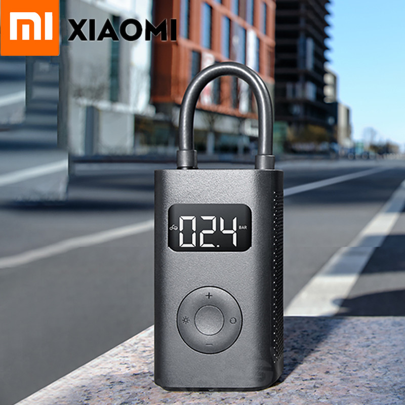 Stock Xiaomi Mijia Portable Smart Digital Tire Pressure Detection Electric Inflator Tyre Air Pump For Bike
