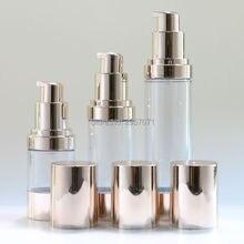 15 мл 30 мл пустой косметический контейнер для макияжа безвоздушные пластмассовые бутылки с помпой жидкий лосьон многоразовые бутылки для путешествий 10 шт