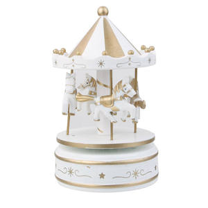 OULII Merry Go Round Carousel Wind Up Music Box Kids Gift