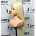 """Femail Training Mannequin Head Hair with bust Dummy Head 24"""" Maniqui Hairdressing Doll Heads Educational Training Hairdresser"""