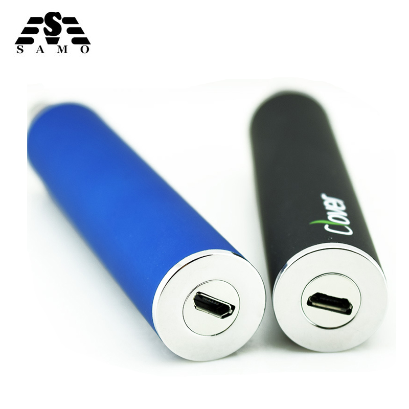 Electronic cigarette <font><b>battery</b></font> Clover 2600mAh USB Passthrough E Cigarette <font><b>Battery</b></font> Clover Root <font><b>510</b></font> thread VS ego-t <font><b>battery</b></font> image