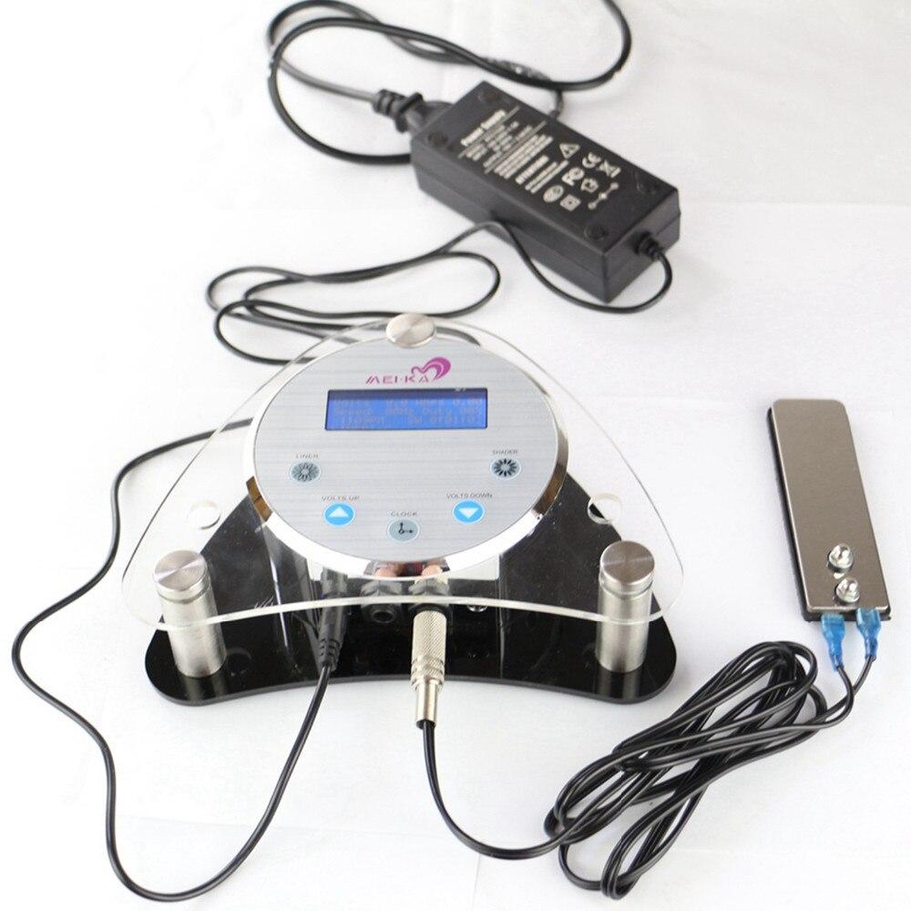 Tatouage alimentation numérique LCD tatouage alimentation permanente Machine de maquillage alimentation avec pédale Clip cordon d'alimentation