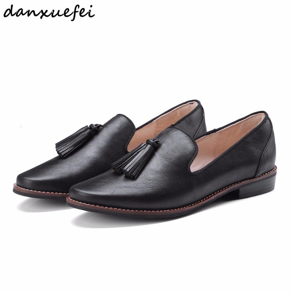 Femmes en cuir véritable sans lacet appartements mocassins marque design frange loisirs espadrilles de haute qualité chaussures femme chaussures femmes