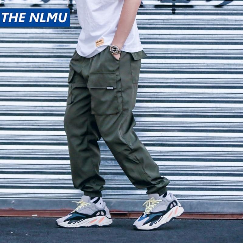 Fashion Harajuku Cargo Pants Men Hip Hop Multi Pockets Elastic Waist Joggers Harem Trousers Streetwear Mens 2018 Male Pant Q0345