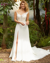 Waulizane New Lustrous Stain Sheath Wedding Dresses With Pearls On Bust Part Elegant Gown