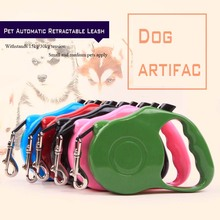 All Seasons Nylon Material Push-button Pet Automatic Retractable Leashes Dog and Cat Are Suitable for Traction Rope 3M/5M 5color