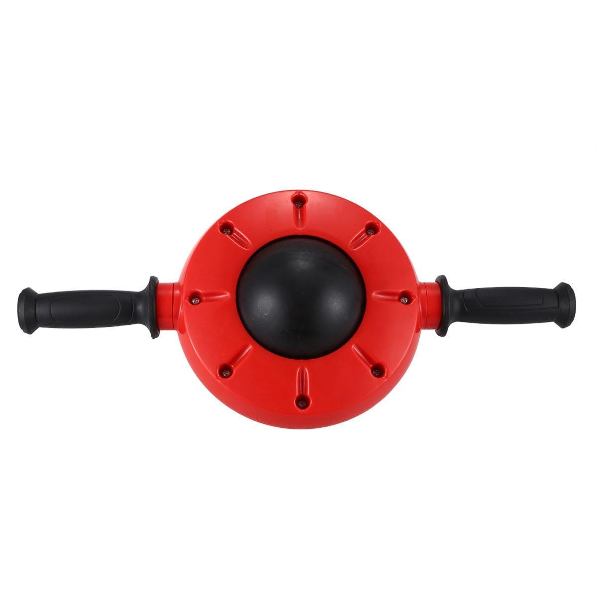 360 grados hogar AB rueda de rodillo para Core estómago Abdominal ejercicio entrenamiento-Rojo