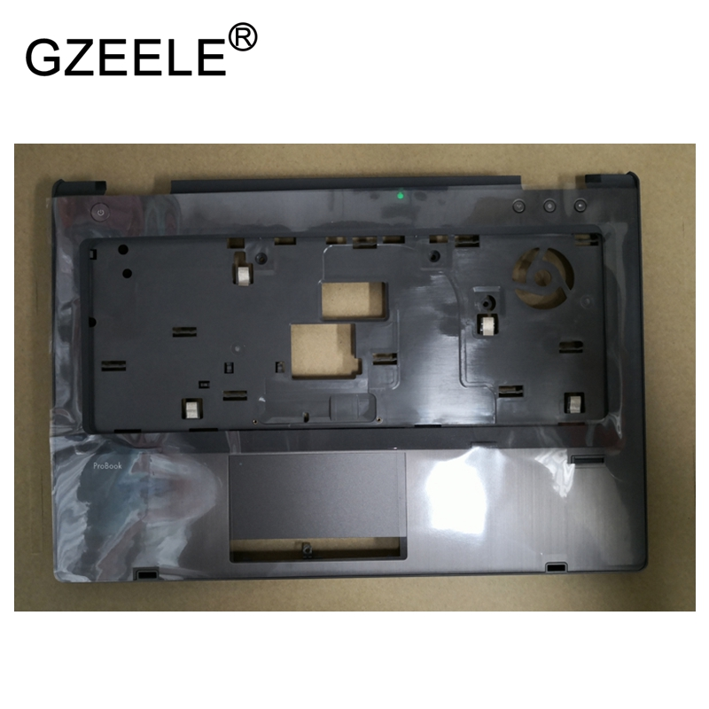 GZEELE NEW Laptop Cover for HP ProBook 6460B 6470B 6475B Palmrest Keyboard Bezel Cover without Touchpad upper case 642741-001 gzeele new for dell precision m4800 laptop palmrest without touchpad assembly upper case keyboard bezel