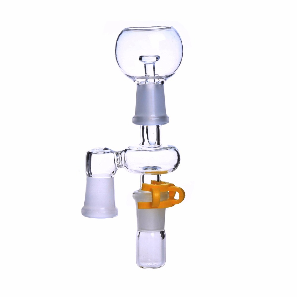 Smoking Dogo Reclaim Ash Catcher 14.4mm or 18.8mm Male Female Joint Glass Adapter With Keck Clip For Glass Bong Oil Rig image