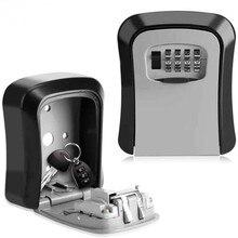 Сейф для ключей, металлический замок, настенный, алюминиевый сплав, защита от атмосферных воздействий, 4 цифры, комбинированный ключ, замок для хранения, коробка