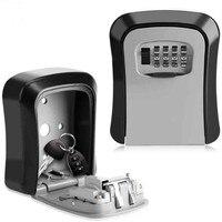 Сейф для ключей, металлический замок, настенный, алюминиевый сплав, защита от атмосферных воздействий, 4 цифры, комбинированный ключ, замок д...