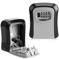 Металлический открытый сейф ящик для ключей Органайзер коробка безопасности 4 цифры Opslag замок коробка открытый настенное крепление чехол