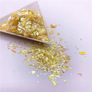 Image 5 - Lentejuelas de papel de concha Irregular para uñas, lentejuelas coloridas para decoración 3D para uñas, 20g por paquete