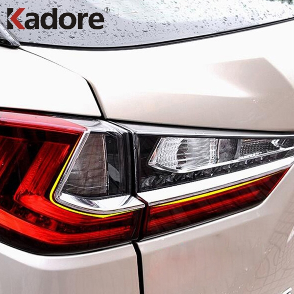 Fit For <font><b>LEXUS</b></font> <font><b>RX</b></font> 2016 <font><b>2017</b></font> ABS Chrome Rear Tail Light Eyebrow Cover Trim Taillight Eyelid Strip Decoration Exterior Accessories image