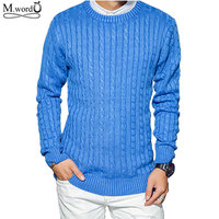 2017 New Casual Men Sweater For Spring Brand Round Neck Solid Pullover Sweater Men Slim Fit