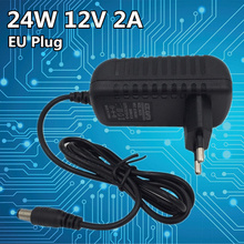 24W DC 12V 2A Security camera switch power supply Universal Power Adapter Supply Charger adapter Eu for LED light strips цена 2017