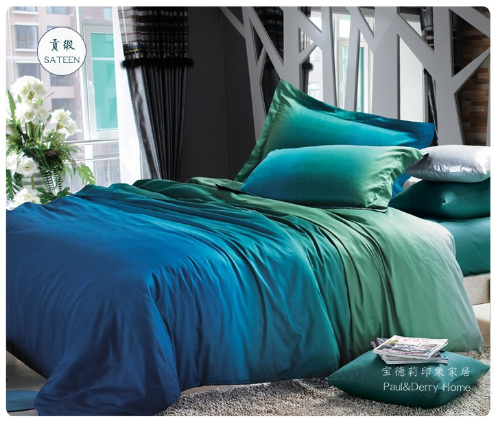Aliexpress com   Buy Blue green gradient bedding sets queen king size quilt duvet covers sheets
