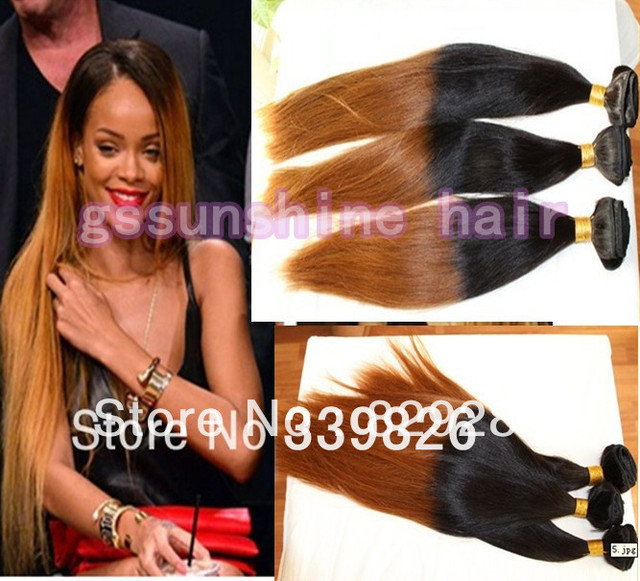 3pcslot 8 40 Rihanna Style Two Tone Ombre Color 1b144 Silky