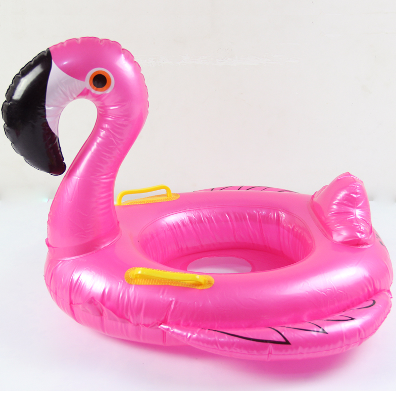 Rose Red Baby Flamingo Inflatable Pool Float 2018 Summer Ride-On Swimming Ring Water Floating Beach Party Toys For babies Child