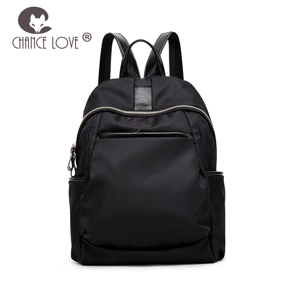 Wave Oxford Cloth Nylon Canvas Backpack Wild Shoulder Bag Zipper Oxford Backpack Female