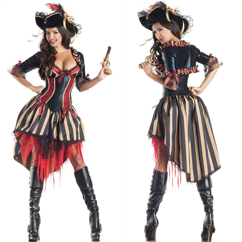 Best Seller Women Adult Pirate Costumes Halloween Costumes For Women  Steampunk Halloween Fantasia female cosplay outfit disfraces adultos e1aeb6396081