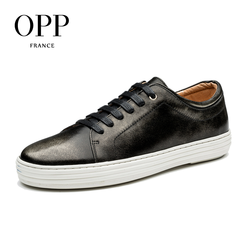 OPP 2017 Mens Genuine Leather Loafers For Men Shoes moccasins Summer Mens Casual Footwear Platform Flats lace up Shoes