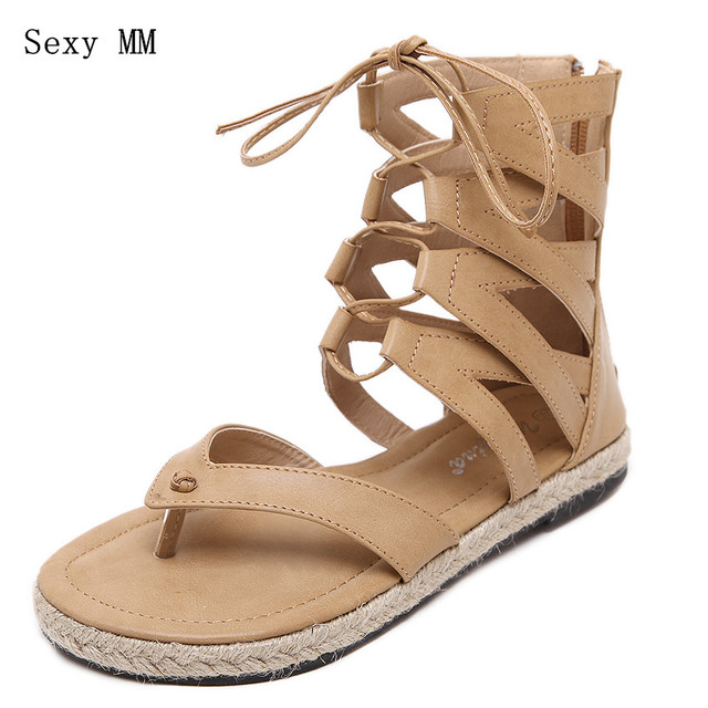 e883bf310553 Women Summer Hot Flat Sandals High Ladies Slippers Heel Shoes Sexy Female  Gladiator Shoes Women s Fashion