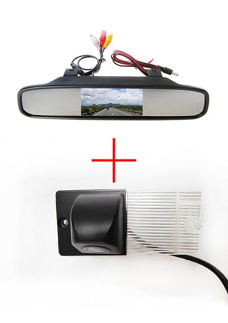 Color CCD Chip de visión trasera cámara para KIA SORENTO SPORTAGE + 4.3 pulgadas espejo retrovisor