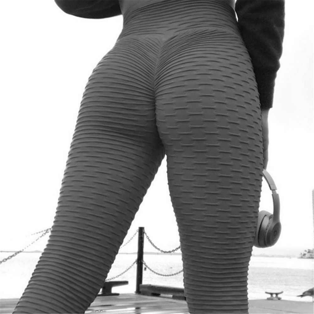 35abf18364f56 2019 New Bumps Style Leggings Put Hip Fold Elastic High Waist Legging  Breathable Slim Pants push