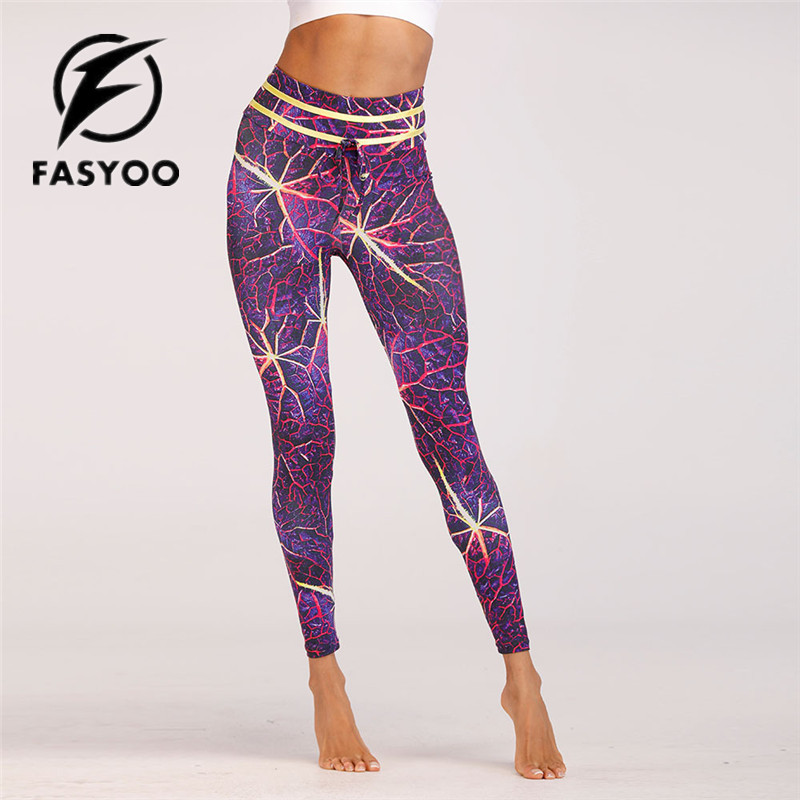 d711b478547b9 female Yoga pants Women Leggings lightning 3D Digital Printing Slim Pink  Fitness Woman running Pants drop shipping
