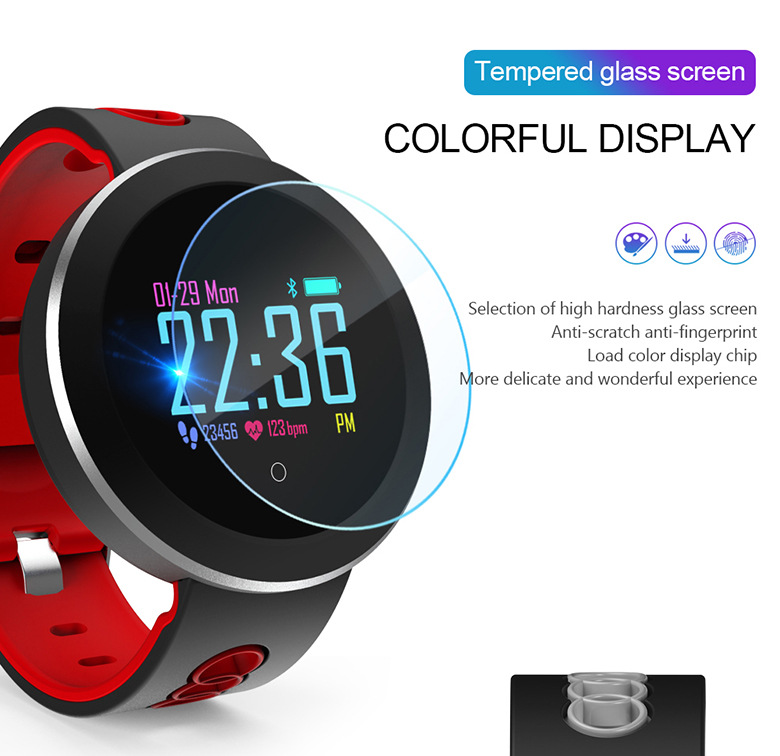 APP Bracelet Waterproof Watch Man Woman Heart Rate Smart Watches Support Blood Pressure Music Steps Weather Russian Spanish image