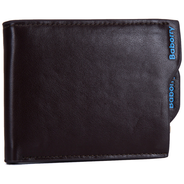 New 2019 Men Wallets Leather Coin Purse Mens Wallet Male Money Purses Soft Card Case New Classic Soild Pattern Designer Wallet 5
