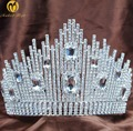 Fantastic Wedding Nupcial Tiara Miss Beauty Pageant Crown Claro Strass Cristais Grande Headband Do Cabelo Jóias