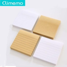 1set/80 sheets office Kraft memo pad sticky notes,post it notes,cute pads,  Horizontal line check 7.5*7.5*1.1cm